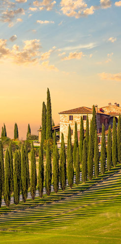 Italy villa on a hill