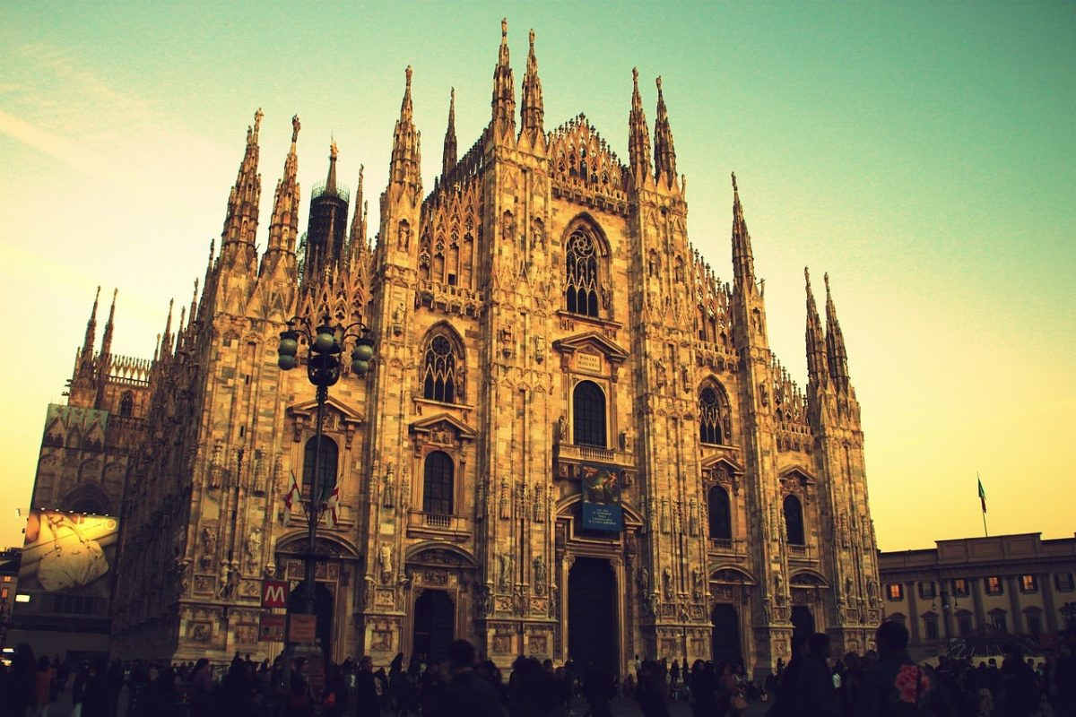 Famous monuments in Italy Milan