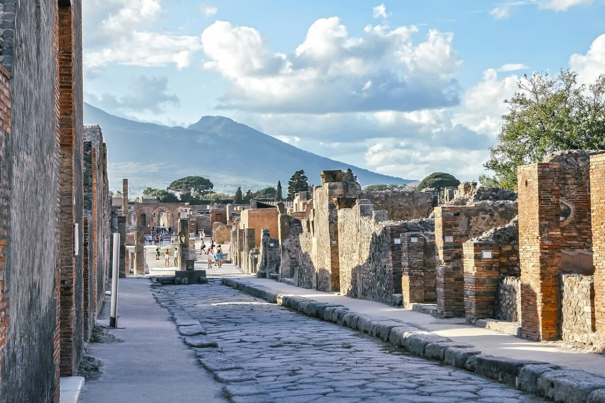 Famous monuments in Italy Pompeii